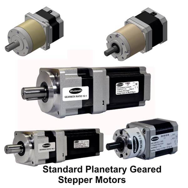 Standard Planetary Geared Stepper Motors