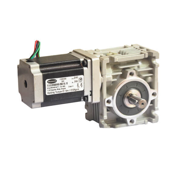 Helical Worm Geared stepper motors