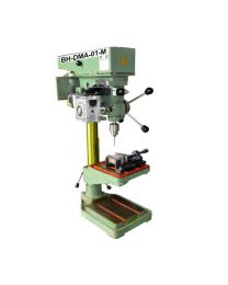 BH-DMA-01-M NEW MACHINE MODEL Size 13 mm Includes New Z AXIS DRILL TAP MACHINE, Helical Worm Geared Stepper Motor, Control Panel & Foot Switch