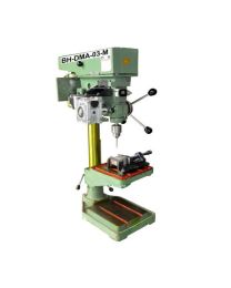 BH-DMA-03-M NEW MACHINE MODEL Size 25 mm Includes New Z AXIS DRILL TAP MACHINE, Helical Worm Geared Stepper Motor, Control Panel & Foot Switch