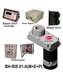 BH-RIS 01-A(M+E+P) ROTARY INDEXING SYSTEM DIMENSION 150MM X 78MM WITH BRAKE STEPPER MOTOR, STEPPER DRIVE, POWERSUPPLY, CONTROLLER & CONTROL PANEL