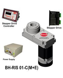 BH-RIS 01-C(M+E) ROTARY INDEXING SYSTEM DIMENSION 150MM X 78MM WITH BRAKE STEPPER MOTOR, STEPPER DRIVE, POWERSUPPLY & CONTROLLER