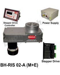 BH-RIS 02-A(M+E) ROTARY INDEXING SYSTEM DIMENSION 330MM X 170MM WITH BRAKE STEPPER MOTOR, STEPPER DRIVE, POWERSUPPLY & CONTROLLER