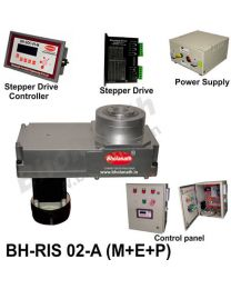 BH-RIS 02-A(M+E+P) ROTARY INDEXING SYSTEM DIMENSION 330MM X 170MM WITH BRAKE STEPPER MOTOR, STEPPER DRIVE, POWERSUPPLY, CONTROLLER & CONTROL PANEL