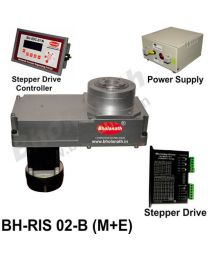 BH-RIS 02-B(M+E) ROTARY INDEXING SYSTEM DIMENSION 330MM X 170MM WITH BRAKE STEPPER MOTOR, STEPPER DRIVE, POWERSUPPLY & CONTROLLER