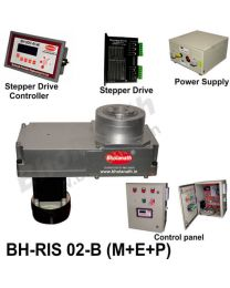 BH-RIS 02-B(M+E+P) ROTARY INDEXING SYSTEM DIMENSION 330MM X 170MM WITH BRAKE STEPPER MOTOR, STEPPER DRIVE, POWERSUPPLY, CONTROLLER & CONTROL PANEL