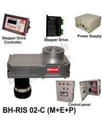 BH-RIS 02-C(M+E+P) ROTARY INDEXING SYSTEM DIMENSION 330MM X 170MM WITH BRAKE STEPPER MOTOR, STEPPER DRIVE, POWERSUPPLY, CONTROLLER & CONTROL PANEL