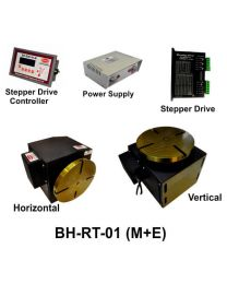 BH-RT 01 (M+E) ROTARY TABLE WITH HELICAL WORM GEARED BRAKE STEPPER MOTOR, STEPPER DRIVE, POWERSUPPLY & CONTROLLER