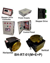 BH-RT 01 (M+E+P) ROTARY TABLE WITH HELICAL WORM GEARED BRAKE STEPPER MOTOR, STEPPER DRIVE, POWERSUPPLY, CONTROLLER & CONTROL PANEL