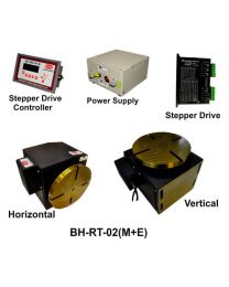 BH-RT 02 (M+E) ROTARY TABLE WITH HELICAL WORM GEARED BRAKE STEPPER MOTOR, STEPPER DRIVE, POWERSUPPLY & CONTROLLER