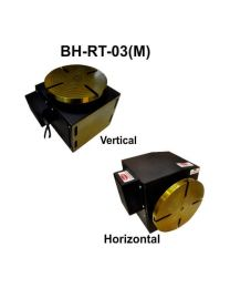 BH-RT 03 (M) ROTARY TABLE WITH HELICAL WORM GEARED BRAKE STEPPER MOTOR