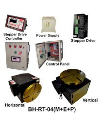 BH-RT 04 (M+E+P) ROTARY TABLE WITH HELICAL WORM GEARED BRAKE STEPPER MOTOR, STEPPER DRIVE, POWERSUPPLY, CONTROLLER & CONTROL PANEL
