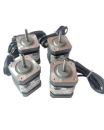 SET OF 4 NOS 3 D PRINTER STEPPER MOTORS 4.4 kg cm BIPOLAR STEPPER MOTOR (1.7 Amp Motor)