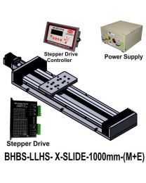LIGHT LOAD HIGH SPEED LINEAR BALL SCREW SLIDE 1000 MM WITH STEPPER MOTOR, STEPPER DRIVE, POWERSUPPLY & CONTROLLER