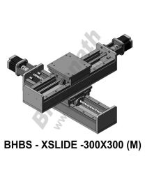 LINEAR XY HEAVY LOAD BALL SCREW SLIDES 300X300 MM WITH STEPPER MOTORS