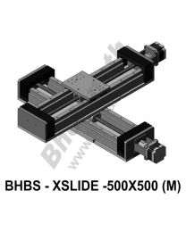 LINEAR XY HEAVY LOAD BALL SCREW SLIDES 500X500 MM WITH STEPPER MOTORS