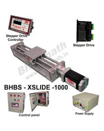 HEAVY LOAD LINEAR BALL SCREW SLIDE 1000 MM WITH STEPPER MOTOR, STEPPER DRIVE, POWERSUPPLY, CONTROLLER & CONTROL PANEL