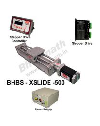 HEAVY LOAD LINEAR  BALL SCREW SLIDE 500 MM WITH STEPPER MOTOR, STEPPER DRIVE, POWERSUPPLY & CONTROLLER