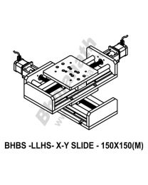 LINEAR XY LIGHT LOAD HIGH SPEED BALL SCREW SLIDES 150X150 MM WITH STEPPER MOTORS
