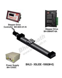 LINEAR LEAD SCREW SLIDE  1000 MM WITH STEPPER MOTOR, STEPPER DRIVE, POWERSUPPLY & CONTROLLER