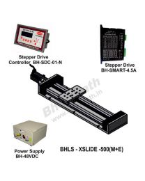 LINEAR LEAD SCREW SLIDE 500 MM WITH STEPPER MOTOR, STEPPER DRIVE, POWERSUPPLY & CONTROLLER
