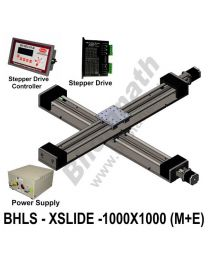 LINEAR XY LEAD SCREW SLIDES 1000X1000 MM WITH STEPPER MOTORS, STEPPER DRIVES, POWERSUPPLY & CONTROLLER