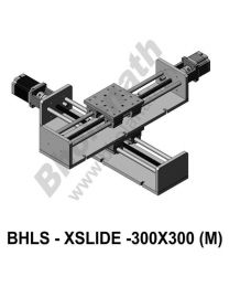 LINEAR XY LEAD SCREW SLIDES 300X300 MM WITH STEPPER MOTORS, STEPPER DRIVES, POWERSUPPLY & CONTROLLER