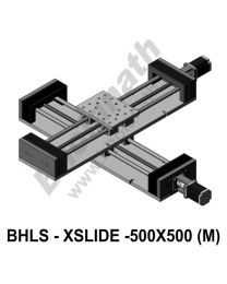 LINEAR XY LEAD SCREW SLIDES 500X500 MM WITH STEPPER MOTORS